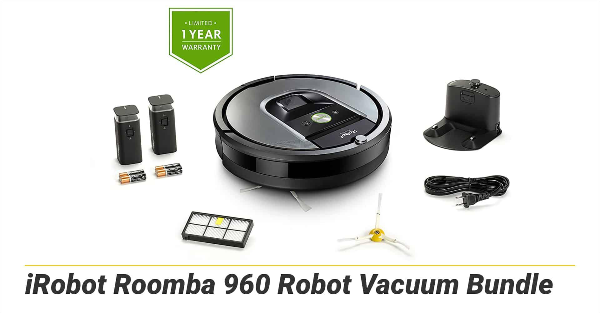 iRobot Roomba 960 Robot Vacuum Bundle