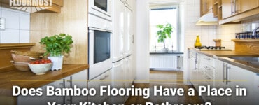 bamboo flooring in kitchen/bathroom
